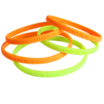 Thin Debossed Silicone Wristband (8