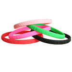 Thin Embossed Silicone Wristband (8