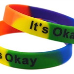 Rainbow Debossed w/ Color Fill Silicone Wristband