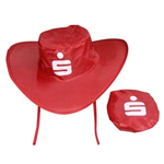 Collapsible cowboy hat w/ pouch