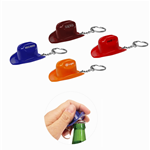 Cowboy Hat Bottle Opener Keychain