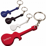 Guitar Shape Aluminum Bottle Opener Keychain