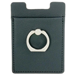 Safe Rfid PU Leather Phone Wallet w/ Ring Stand