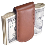 Magnetic Leatherette Money Clip